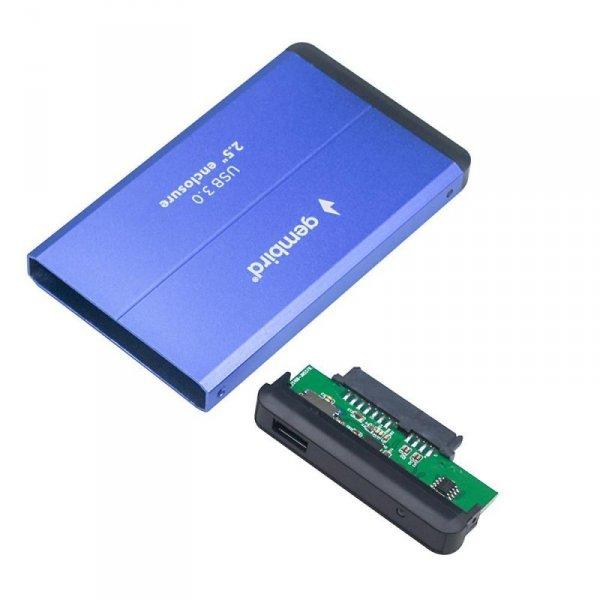 """Gembird EE2-U3S-2-B obudowa do dysków twardych 2.5"""" USB 3.0 Obudowa HDD Niebieska"""
