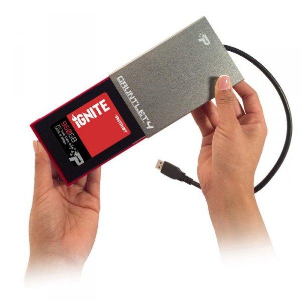 "Patriot Memory Gauntlet 4 2.5"" Obudowa HDD/SSD Aluminium"