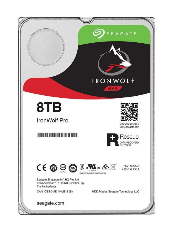 "Dysk HDD Seagate IronWolf ST8000VN004 (8 TB ; 3.5""; 256 MB; 7200 obr/min)"