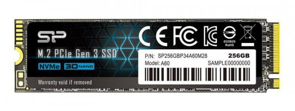 Dysk SSD Silicon Power Ace A60 SP256GBP34A60M28 (256 GB ; M.2; PCIe NVMe 3.0 x4)