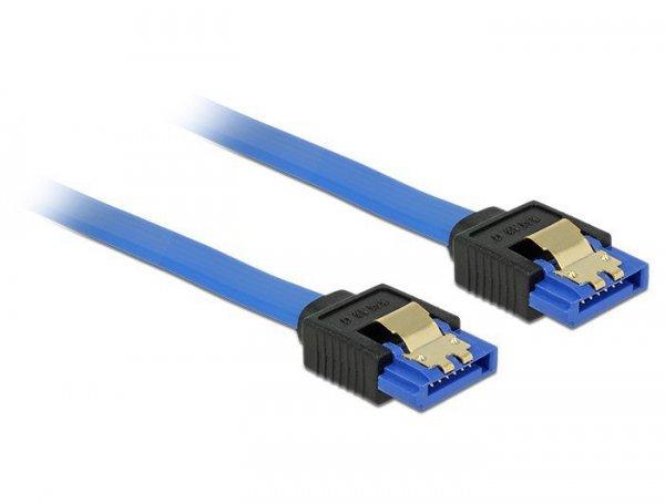DeLOCK 84979 kabel SATA 0,5 m SATA 7-pin Czarny, Niebieski