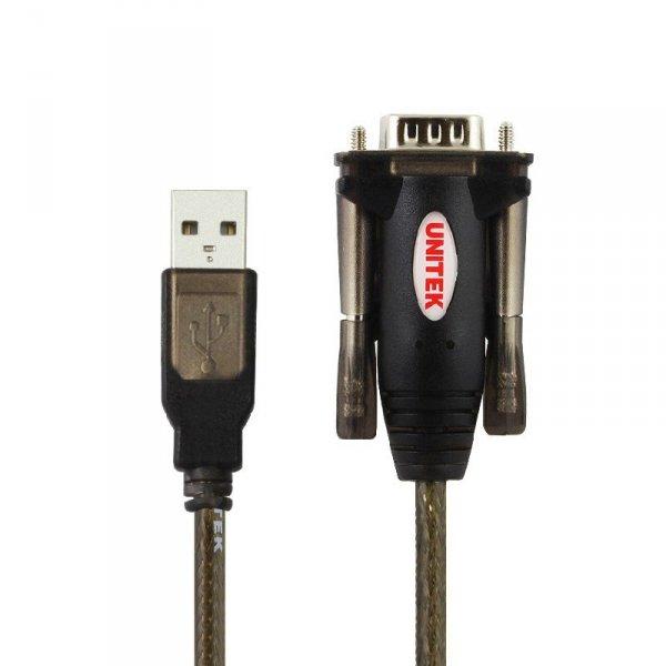 UNITEK Y-105A cable gender changer USB v. 1.1. DB9F/DB25M Czarny