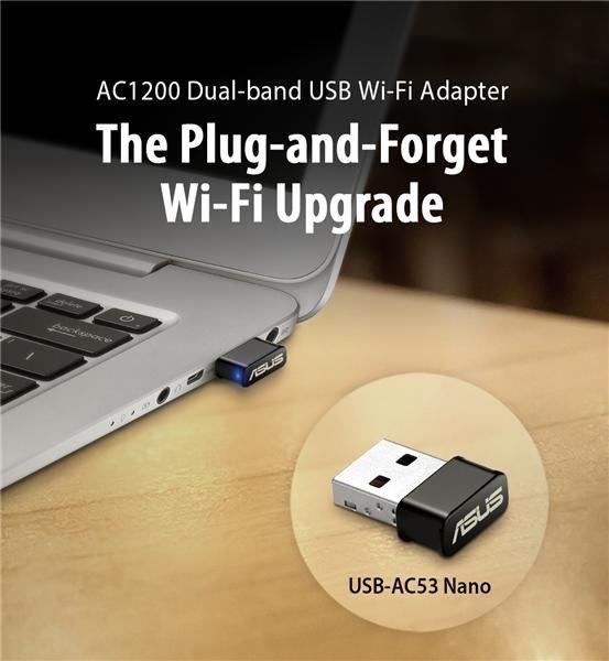 Karta sieciowa ASUS AC1200 USB-AC53 Nano