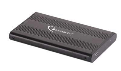 "Obudowa GEMBIRD EE2-U2S-5 (2.5""; USB 2.0; Aluminium; kolor czarny)"