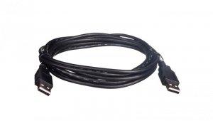 Kabel połączeniowy USB 2.0  Typ USB A/USB A, M/M czarny 3m AK-300100-030-S