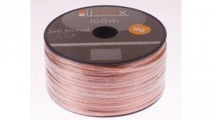 Przewód głośnikowy CCA 2x0,50 ECa LB0005 LIBOX /100m/