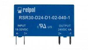 Przekaźnik półprzewodnikowy 1P 24VDC/2A Ustre= 18-32V DC RSR30-D24-D1-02-040-1 2611997