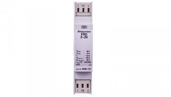 Ogranicznik przepięć dla systemów dwużyłowych 19VAC/28VDC 2,5kA 5kV FRD 2-24 5098727