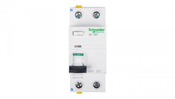 Wyłącznik różnicowoprądowy 2P 40A 0,03A typ AC iID A9Z11240