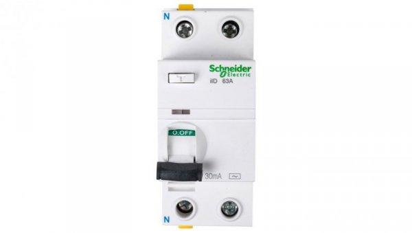 Wyłącznik różnicowoprądowy 2P 63A 0,03A typ AC iID A9Z11263