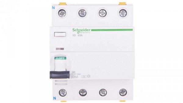 Wyłącznik różnicowoprądowy 4P 63A 0,03A typ A iID A9Z21463