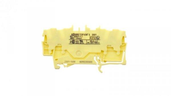 Złączka szynowa 4-przewodowa 1,5mm2 żółta 2001-1406 TOPJOBS