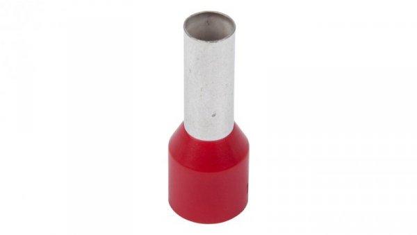 Końcówka tulejkowa izolowana TI 10mm2/12mm czerwona cynowana TI10L12 /100szt./