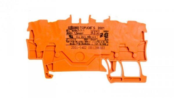 Złączka 4-przewodowa 1,5mm2 pomarańczowa 2001-1402 TOPJOBS