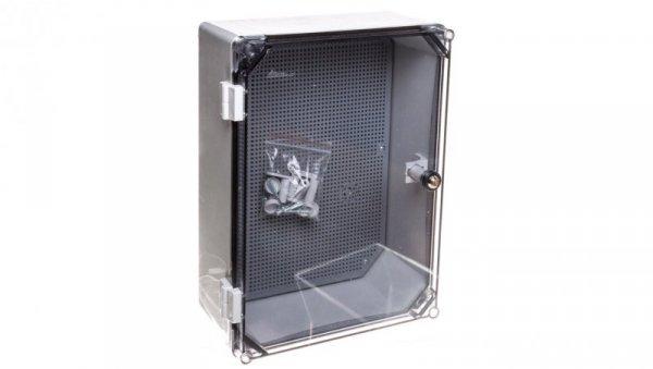 Obudowa 400x300x166mm IP65 z płytą montażową transparentna UNIbox Uni-1/T 43.11