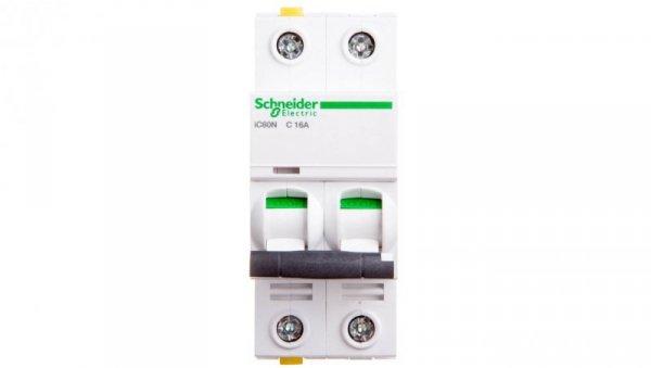 Wyłącznik nadprądowy 2P C 16A 6kA AC iC60N-C16-2 A9F04216