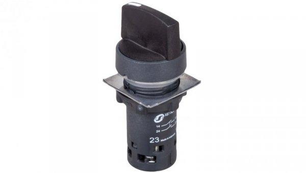 Przełącznik 3 położeniowy pokrętło 22mm czarny 2Z bez samopowrotu XB7ND33
