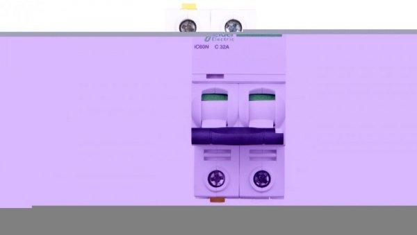 Wyłącznik nadprądowy 2P C 32A 6kA AC iC60N-C32-2 A9F04232
