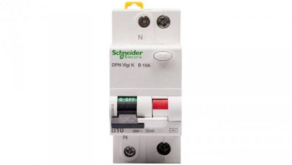 Wyłącznik różnicowo-nadprądowy 2P 10A B 0,03A typ AC DPN Vigi K A9D22610