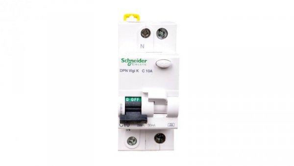 Wyłącznik różnicowo-nadprądowy 2P 10A C 0,03A typ A DPN Vigi K A9D21610