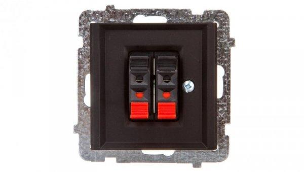 SONATA Gniazdo głośnikowe podwójne czarny metalik GG-2R/m/33