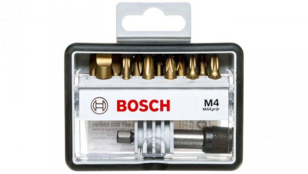 Zestaw końcówek wkręcających ROBUST SET M4(PH,PZ,T,SP) 13PC MAXGRIP 2607002580 /13szt./