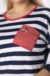 bluzka z kokardą na plecach