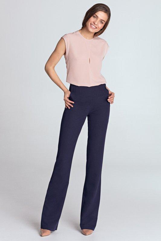 Bluzka z subtelnym pęknięciem bez rękawów B97 Pink - Nife