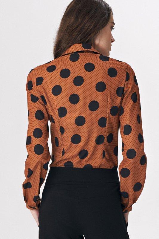 Bluzka koszulowa body B113 Grochy - Nife
