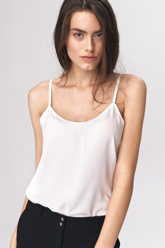 Koszulka Prosty top na ramiączkach B109 Ecru - Nife