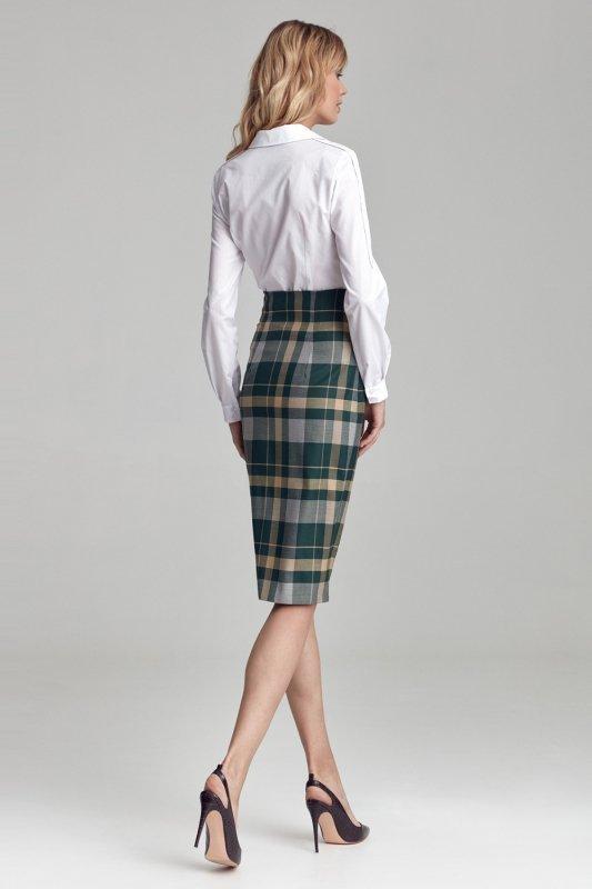 Spódnica Ołówkowa spódnica w kratę SP57 Krata - Nife