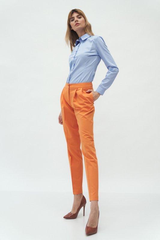 Spodnie Pomarańczowe spodnie z zakładką SD59 Orange - Nife