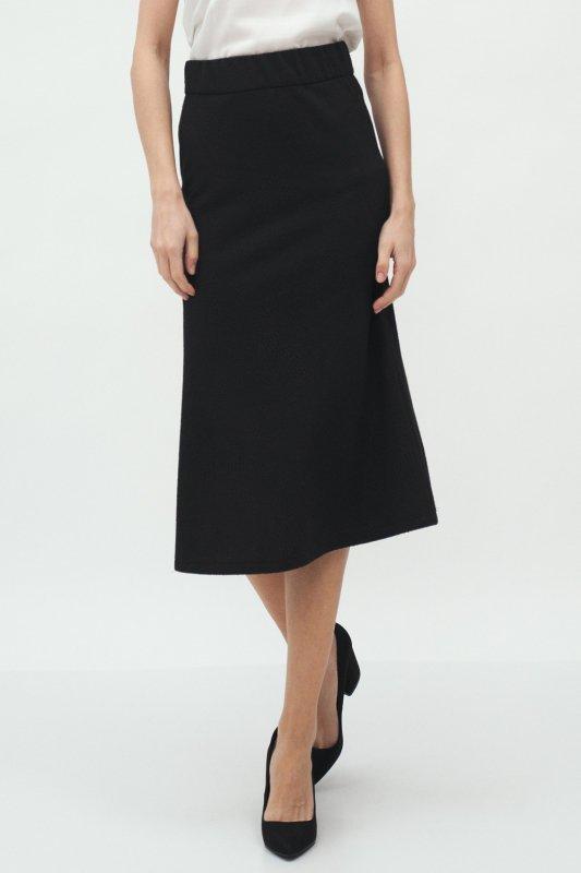 Spódnica Czarna spódnica midi SP60 Black - Nife