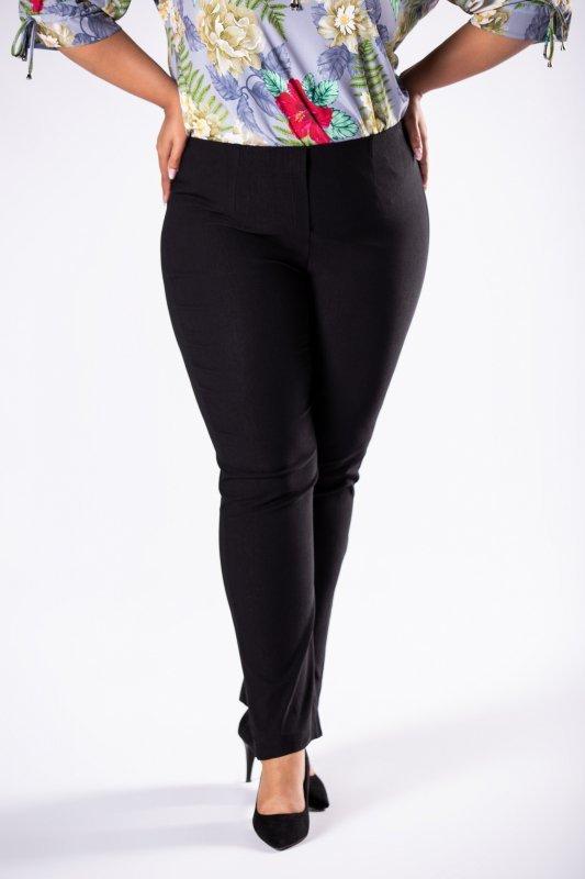 spodnie cygaretki z gumką w pasie i prostymi nogawkami