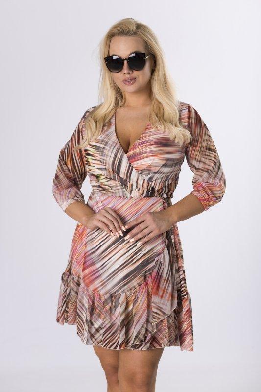 kopertowa sukienka z wiązaniem