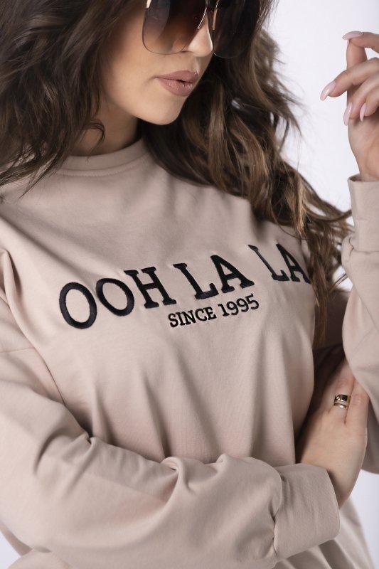 bawełniana bluza z haftowanym napisem