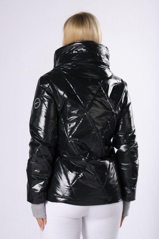 foliowana kurtka z dresowymi ściągaczami