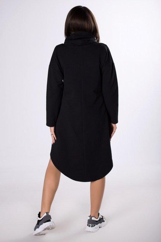 dresowa sukienka z wydłużonym tyłem