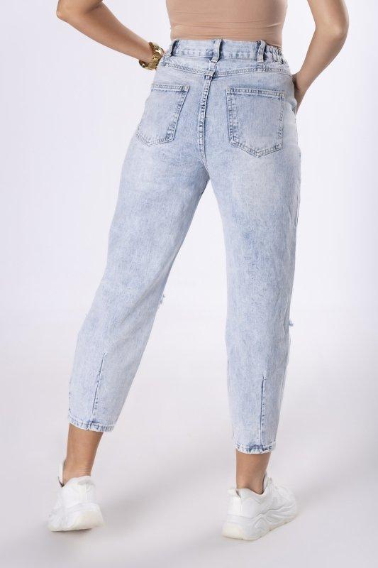 jeansowe spodnie z dziurami