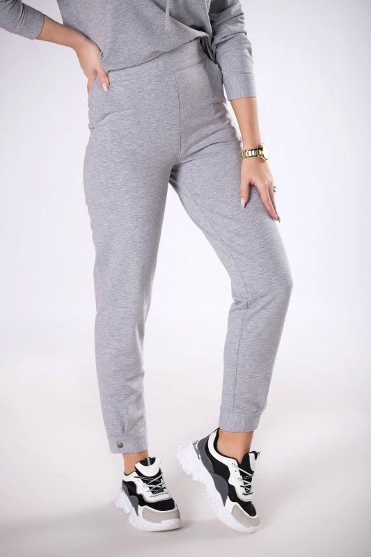 dresowe spodnie z mankietem