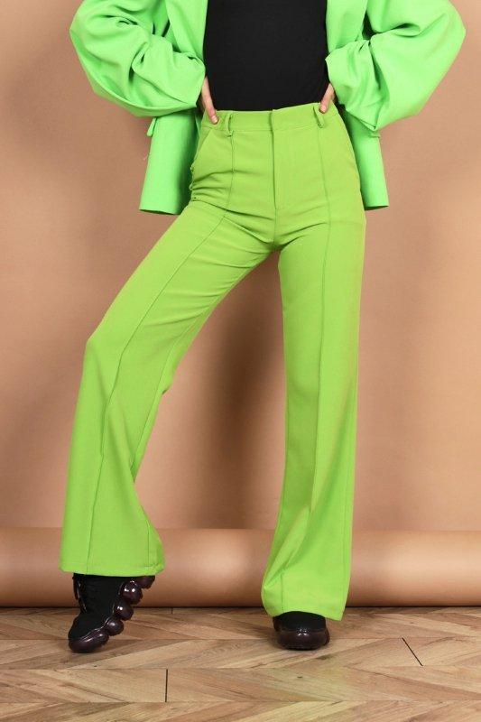 szerokie spodnie w kant