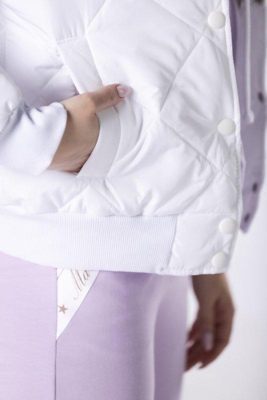 pikowana kurtka bomberka