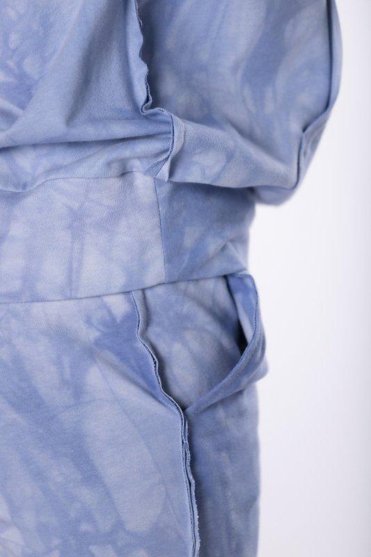 bawełniany dres tie dye