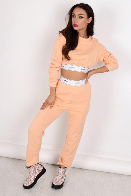 dresowe spodnie z taśmą