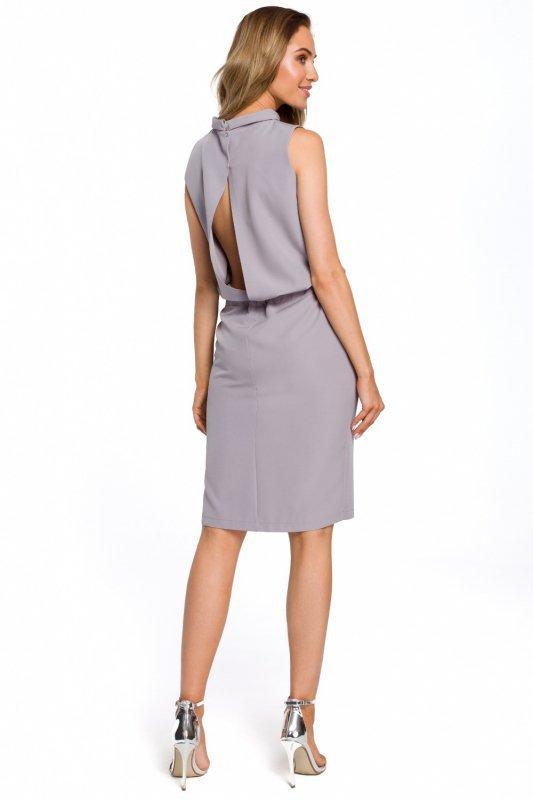 Sukienka Model MOE423 Grey - Moe