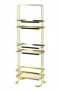ZAC GOLD  Półka łazienkowa              24x15,5xH:74cm