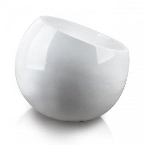 NEVA WHITE Doniczka skośna h:64cm