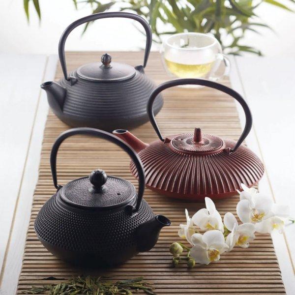 Dzbanek żeliwny do herbaty 600ml - czarny / Kitchen Craft