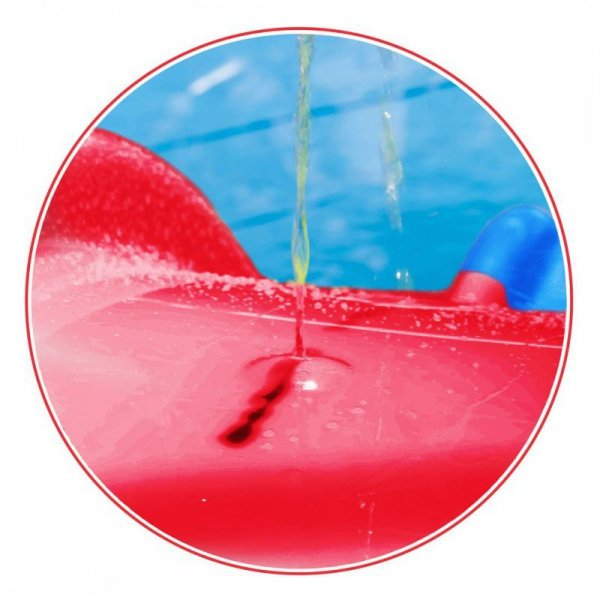 WOOPIE Duża Zjeżdżalnia XXL 180 cm z Natryskiem Wodnym Ślizg Wodny