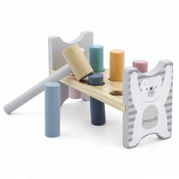 Drewniana Ławeczka Przebijanka Wbijanka z Młotkiem - PolarB - Viga Toys